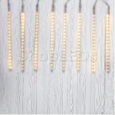 Гирлянда Тающие сосульки светодиодная, 8 шт х 50 см, шаг 40 см, 230 В, Теплые Белые светодиоды