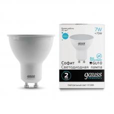 Лампа светодиодная Elementary MR16 7Вт 4100К GU10 550лм Gauss 13627