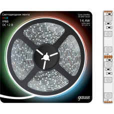 Лента LED 5050/60-SMD 14.4W 12V DC RGB IP66 (блистер 5м)